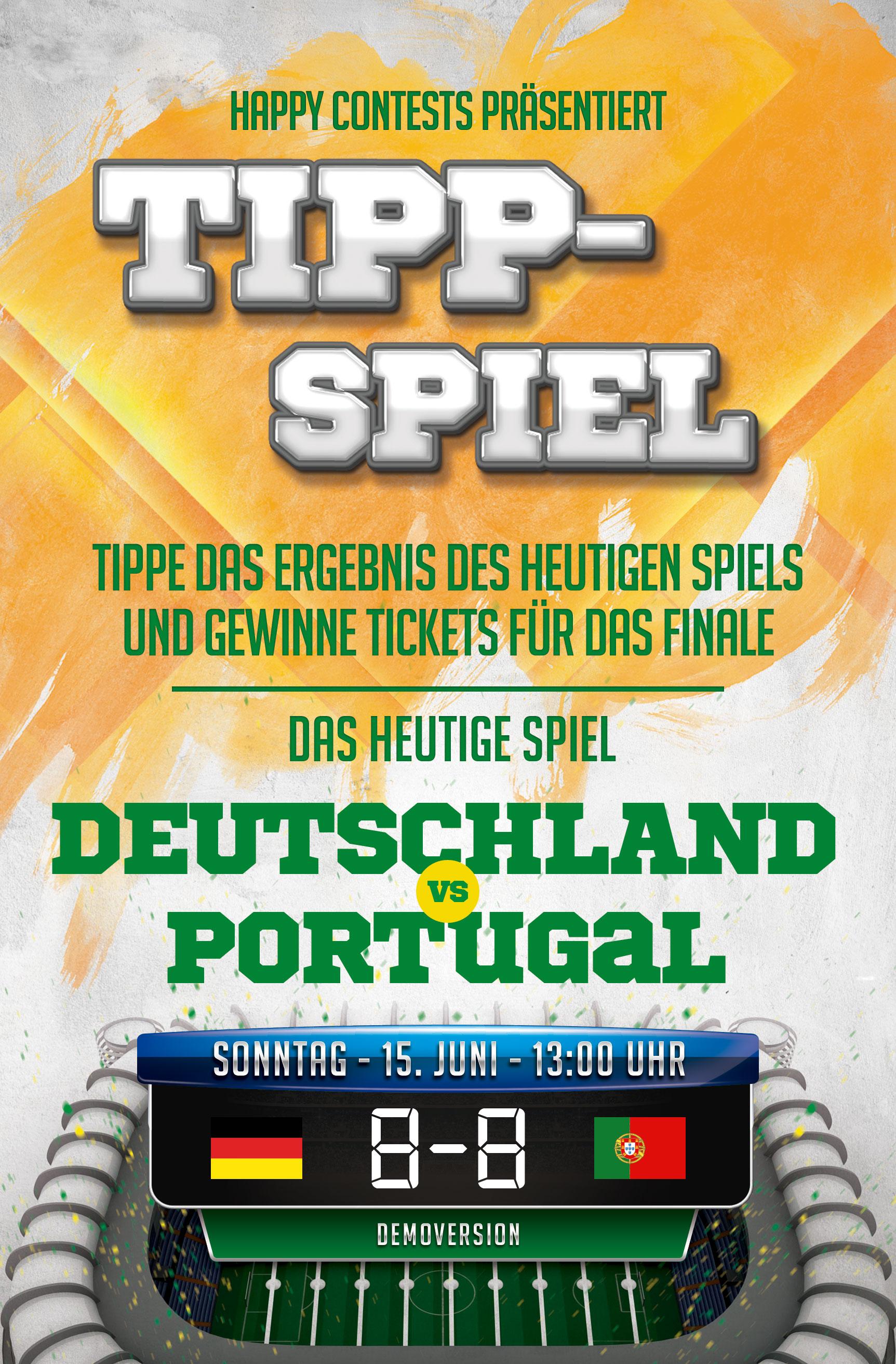 Gewinnspiel App Tippspiel EM WM